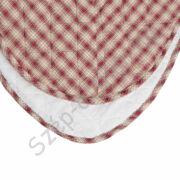 CLEEF.Q180.062 Steppelt ágytakaró 260x260cm, barna-piros kockás szívvel