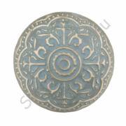CLEEF.63876 Kerámia ajtófogantyú 4cm, szürke krémszínű mintával
