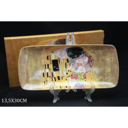 P.P.W4A44-16483 Porcelán tálca 30x13,5cm Klimt:The Kiss