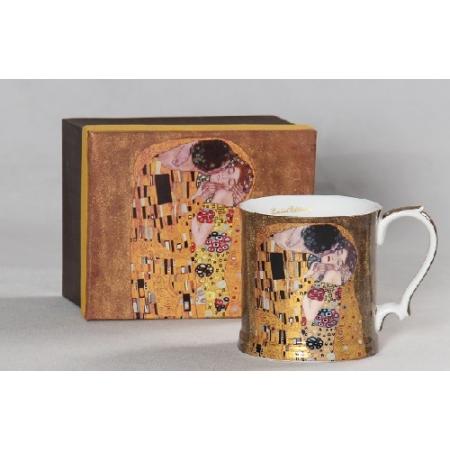P.P.W6A61-11505 Porcelán bögre díszes füllel 450ml,Klimt:The Kiss