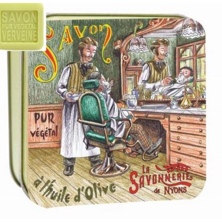 L.S.N.30577 Verbéna szappan 100gr,shea vajjal és oliva olajjal,Old Shops fémdobozban