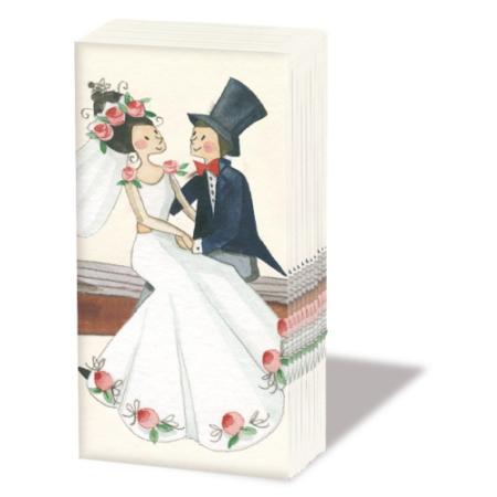 PPD.SNIFF050779 Wedding papírzsebkendő,10db-os