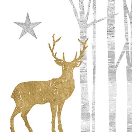 A.PD.C3332496 Mystic Deer gold papírszalvéta 33x33cm, 20db-os