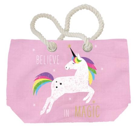 PPD.Y1552507 Pink Unicorn vászon strandtáska 55x38 cm
