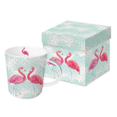 A.PD.M603426 Porcelán bögre 0,35l dobozban Flamingo Fantasy