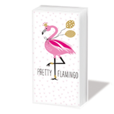 PPD.Sniff051681 Pretty Flamingo papírzsebkendő,10db-os