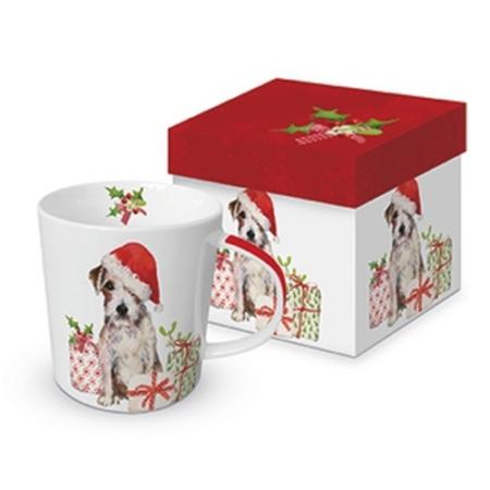 Porcelánbögre 0,35l dobozban, Christmas Pup