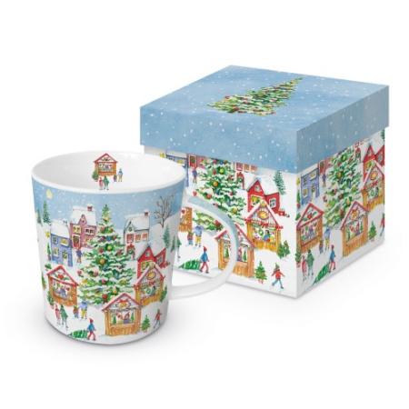 Porcelánbögre 0,35l, dobozban, X-mas Market