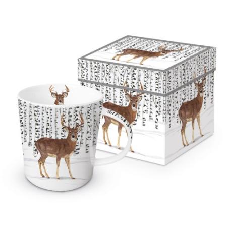 Porcelánbögre 0,35l dobozban, Wilderness Stag