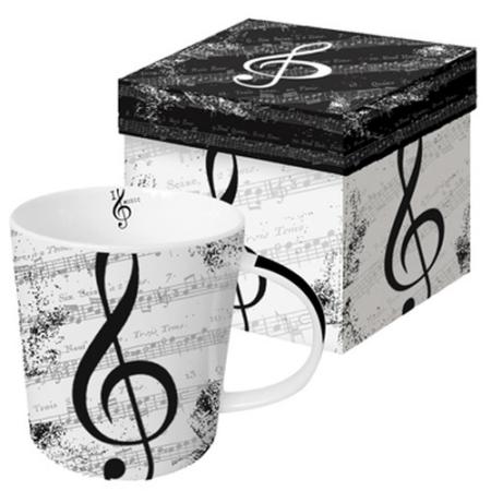 PPD.M602612 Porcelán bögre 0,4l, I Love Music