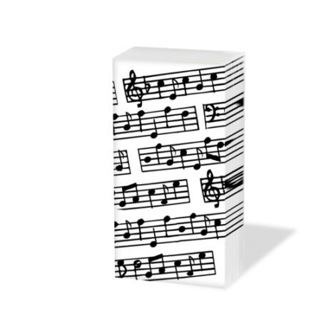 PPD.SNIFF050171 Music papírzsebkendő,10db-os