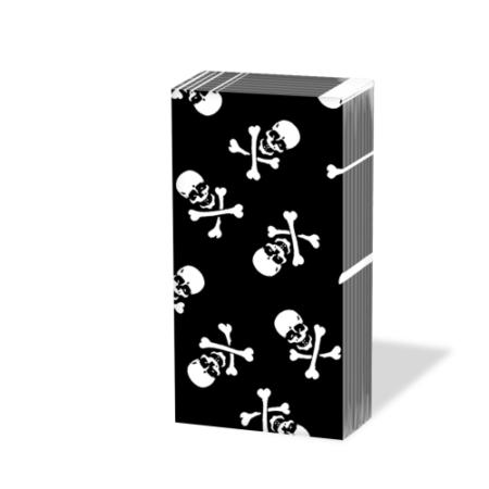 PPD.SNIFF050252 Scull black papírzsebkendő,10db-os