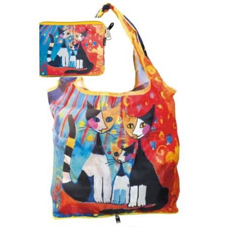 FRI.40513 Táska a táskában, nylon, Rosina Wachtmeister: We want to be together, 42x48cm, összehajtva: 16x13cm