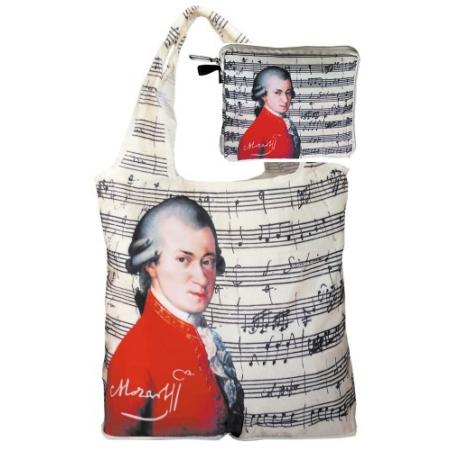 FRI.40544 Táska a táskában, nylon, Mozart, 42x48cm, összehajtva:16x13cm