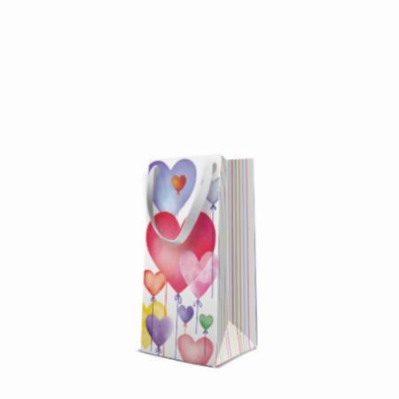 P.W.AGB3001321 Lovely Baloons papír ajándéktáska premium keskeny 10x22x7cm