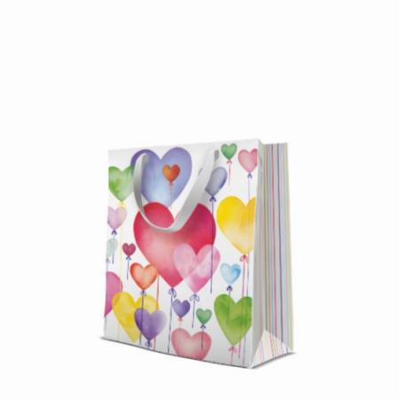 P.W.AGB3001903 Lovely Baloons papír ajándéktáska premium medium 20x25x10cm