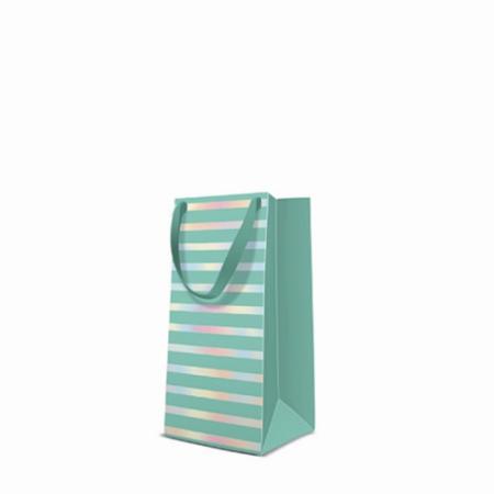 P.W.AGB1011821 Reflex Stripes mint papír ajándéktáska keskeny 10x22x7cm