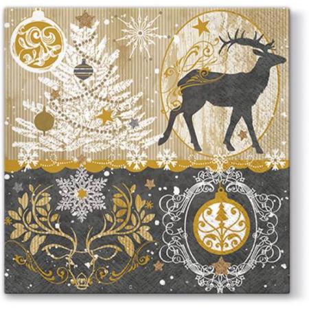 A.A.SDL058400 Royal Deer papírszalvéta 33x33cm, 20db-os