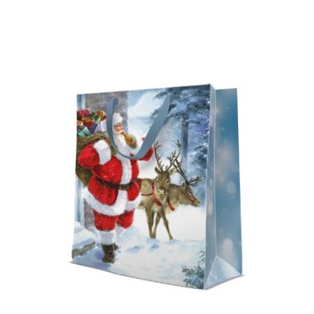 P.W.AGB2006705 Santa is coming papír ajándéktáska large 26,5x33,5x13cm