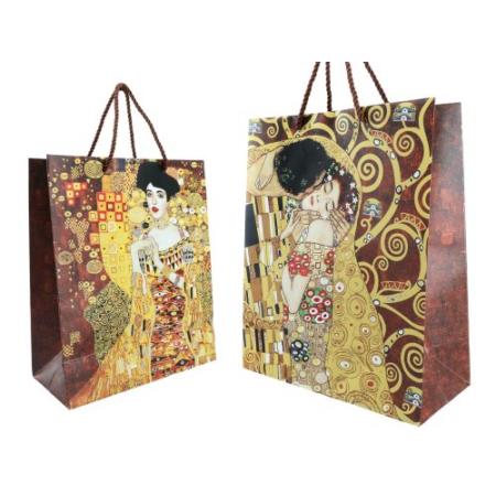 H.C.036-1501 Ajándéktáska papír 18x23x10cm, Klimt: The Kiss / Adele