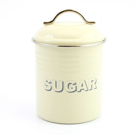 T.L.C.LP22221 Konyhai fém tárolódoboz Sugar, 11x11x19cm
