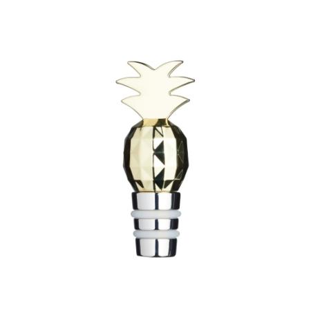 K.C.BCWSTPAPPLE Tropical fém borosüvegdugó ananász dísszel, 8cm, metál szín, BarCraft