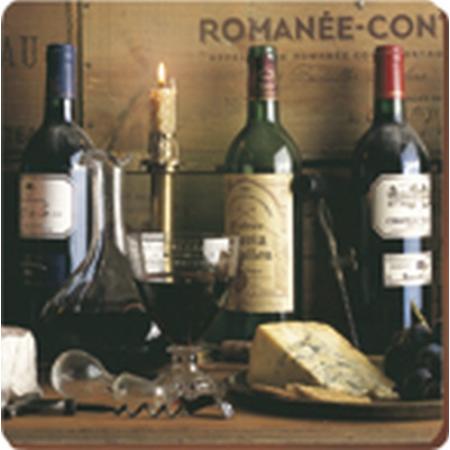 C.T.5169656 Parafa poháralátét 6db-os 105x105mm, Vintage Wine