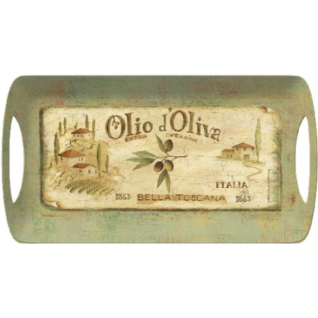 C.T.5169678 Műanyag szendvicstálca 385x200mm,Olio d'Oliva