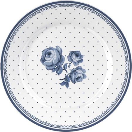 C.T.5176093 Porcelán desszerttányér 190mm,Floral,Vintage Indigo
