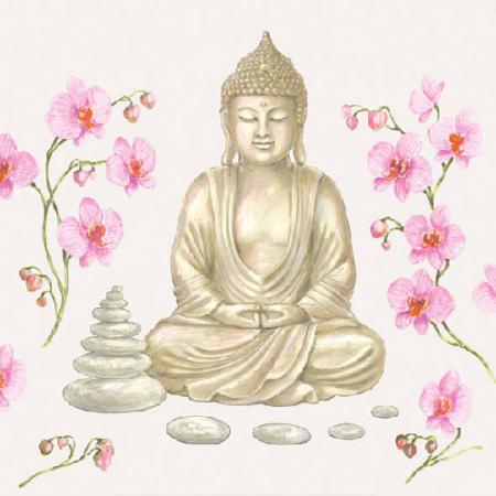 AMB.13307555 Buddha papírszalvéta 33x33cm,20db-os
