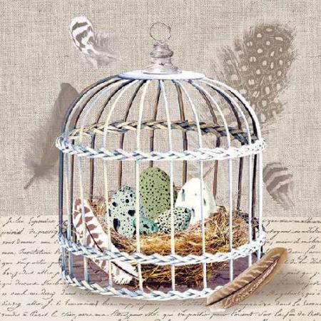AMB.13310075 Birds Nest papírszalvéta 33x33cm,20db-os