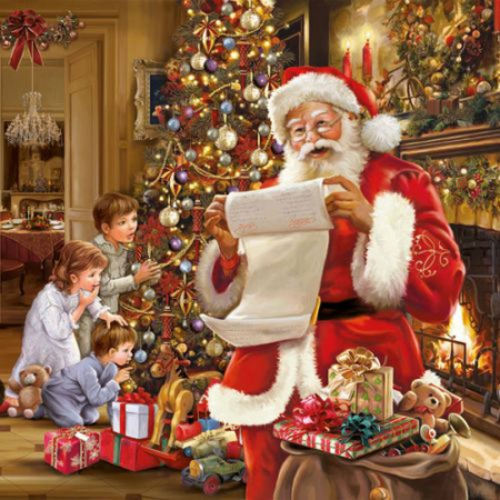 AMB.33305040 Christmas Eve papírszalvéta 33x33cm,20db-os