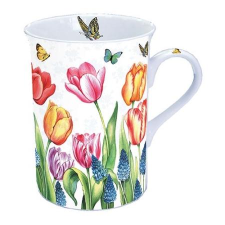 AMB.18611525 Tulips & Muscari porcelán bögre 0,25l