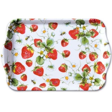 AMB.13711645 Strawberries All Over white müanyag kistálca 13x21cm
