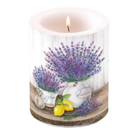 AMB.19111650 Lavender átvilágítós gyertya 12x10cm