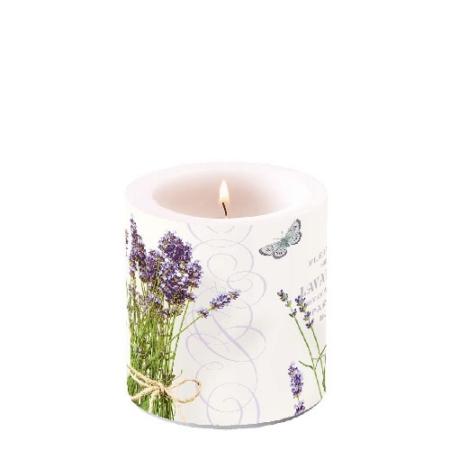 AMB.19211695 Bunch of Lavender átvilágítós gyertya 8x7,5cm
