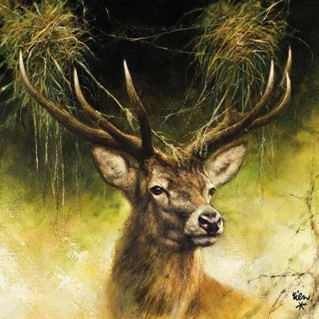 AMB.13312340 Proud Deer papírszalvéta 33x33cm, 20db-os