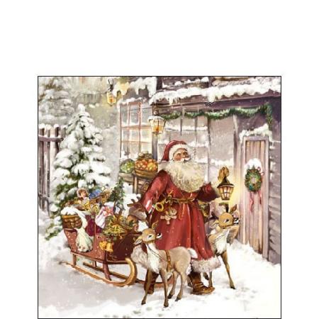 AMB.32512005 Christmas Visit papírszalvéta 25x25cm,20db-os