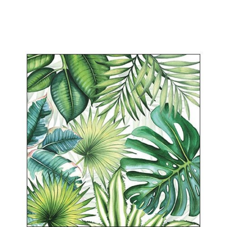 AMB.12510940 Tropical Leaves papírszalvéta 25x25cm,20db-os