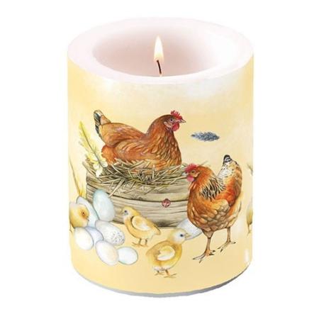 AMB.19112820 Breeding Chicken átvilágítós gyertya 12x10cm