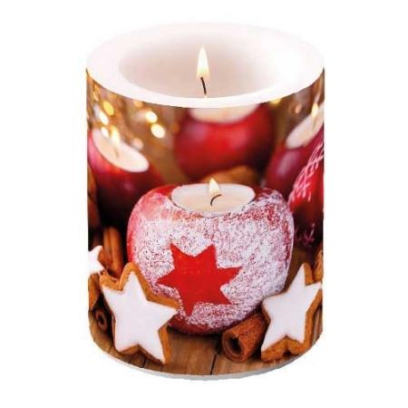 AMB.39113400 Star On Candle átvilágítós gyertya 12x10cm