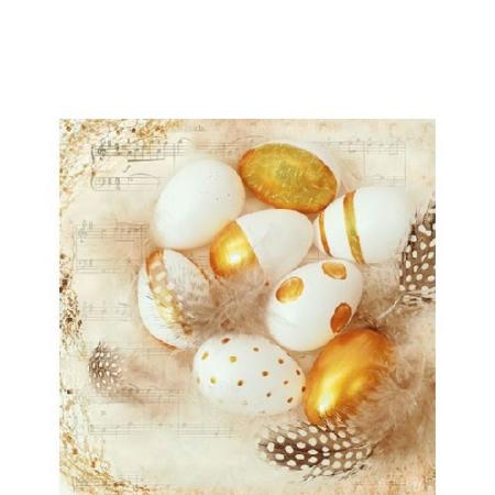 AMB.22512795 Golden Eggs papírszalvéta 25x25cm,20db-os