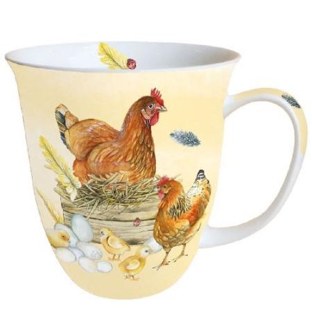 AMB.18412820 Breeding Chicken porcelán bögre 0,4L