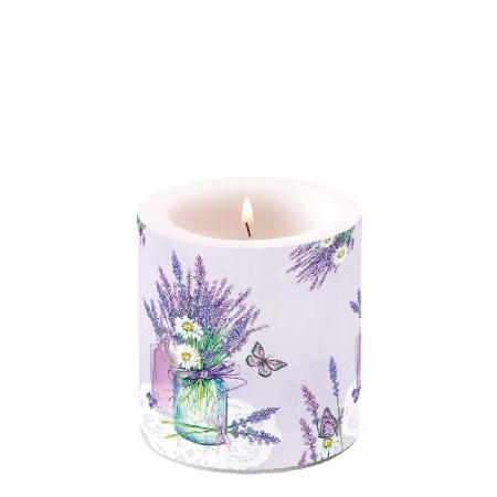 AMB.19214000 Lavender Jar Lilac átvilágítós gyertya 8x7,5cm