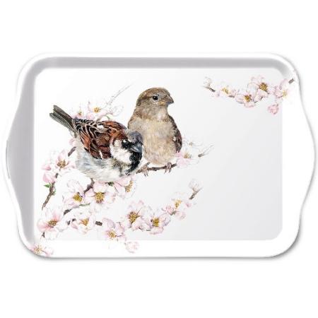 AMB.13713895 Sparrows Blossom műanyag kistálca 13x21cm