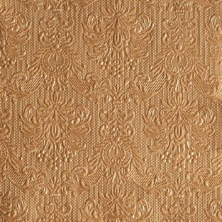 AMB.13305513 Elegance bronz papírszalvéta 33x33cm,15db-os