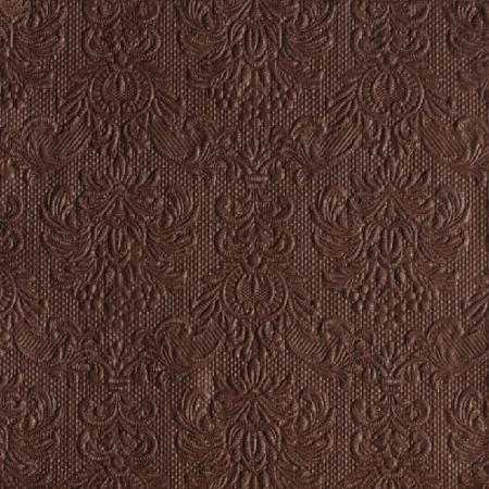 AMB.14007031 Elegance brown papírszalvéta 40x40cm,15db-os