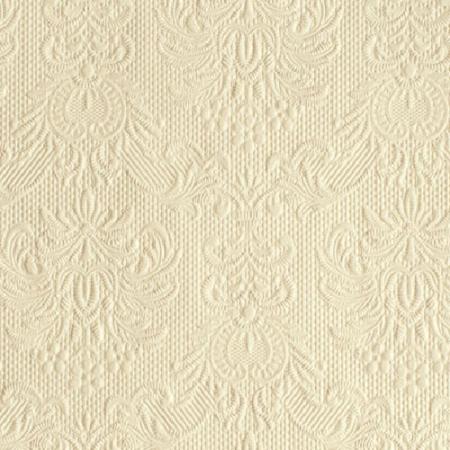 AMB.12504926 Elegance cream papírszalvéta 25x25cm,15db-os