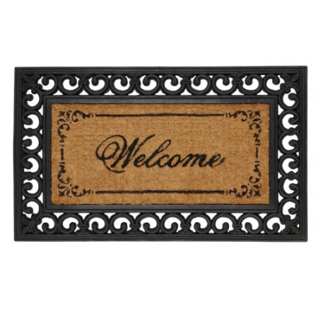 "Clayre & Eef MC031 Lábtörlő 45x76cmx16mm,gumis szélű ""Welcome"""