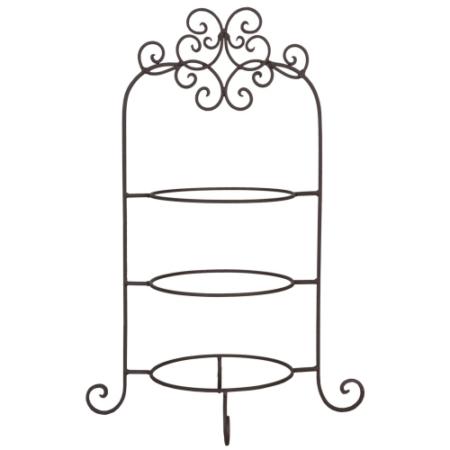 Clayre & Eef 6Y1249 Fém asztali tányértartó 3-as 36x28x54cm,barna